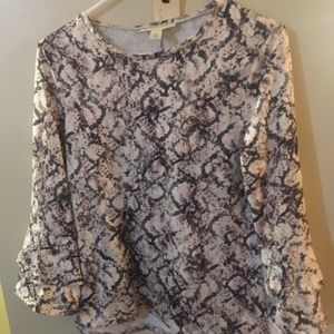 Emaline pullover print blouse new w/tags PM